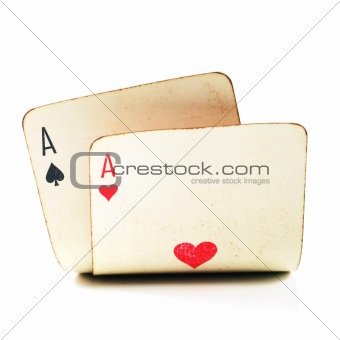 two old poker cards