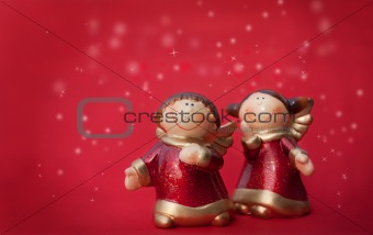 Two Christmas angels