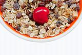 Sweet cherry in muesli