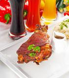 original German BBQ pork  knuckle