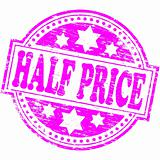 Half Price rubber stamp