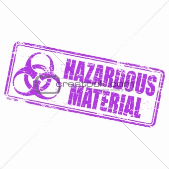 Hazardous Material rubber stamp