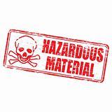 Hazardous Material rubber stamp