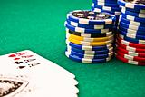 chips poker and poker aces