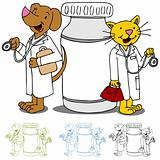 Pet Doctors with Medication