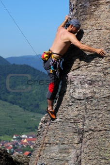 Rock climbing, outdoor activity