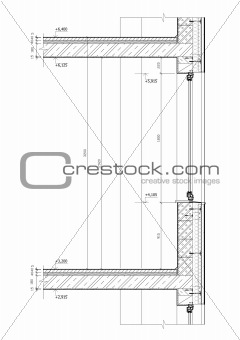 Image 4246534 construction drawing cross section of a window construction drawing cross section of a window black and white vector illustratration thecheapjerseys Gallery