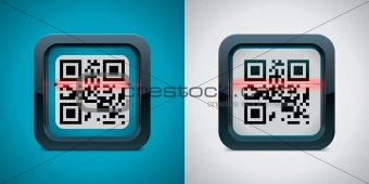 Vector QR code scanner icon