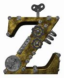 steampunk letter z