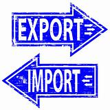 Import and Exprt rubber stamps