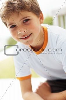 Portrait of a little boy looking happy