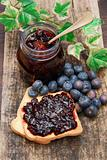 sweet blueberries jam