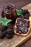 sweet blackberries jam