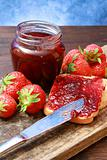 sweet strawberries jam