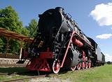 Haapsalu.A museum of steam locomotives.