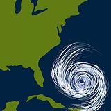 East Coast Hurricane Drawing