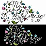 My Condolences Floral Message