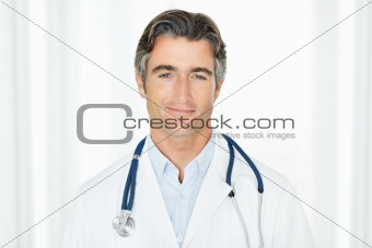 Portrait of a confident successful male doctor