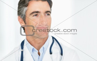 Middle aged male doctor