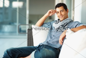 Portrait of stylish young man relaxing