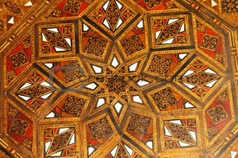 Moroccan wood pattern