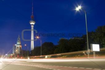 Alexanderplatz tv tower at night