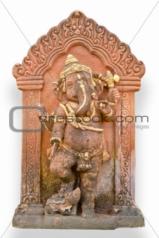 Old Hindu God Ganesh sculpture in Thailand temple