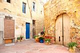 old residential area of valetta malta