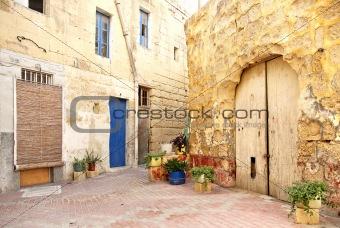 old residential area of valetta malta