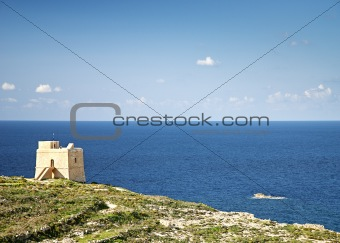 old watchtower on gozo island in malta