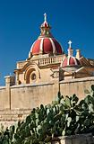 detail of church in gozo island malta