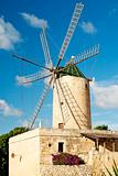 stone windmill on gozo island in malta