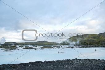 blue lagoon near reykjavik iceland