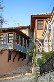 old town street in plovdiv bulgaria