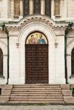 bulgarian orthodox church door in sofia bulgaria