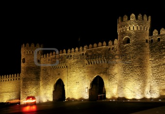 old town gate in baku azerbaijan