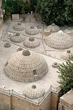 traditional rooftop domes in baku azerbaijan