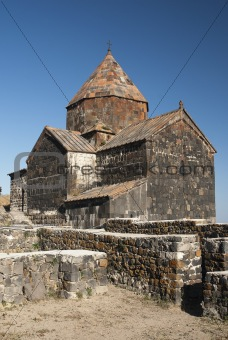 ancient armenian church on lake sevan armenia