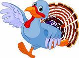 Running Cartoon Turkey