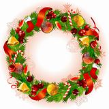 Christmas wreath with fir branches