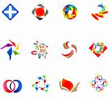 12 colorful vector symbols: (set 14)