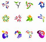 12 colorful vector symbols: (set 15)