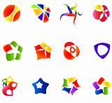 12 colorful vector symbols: (set 16)
