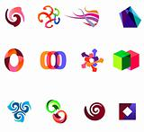 12 colorful vector symbols: (set 19)