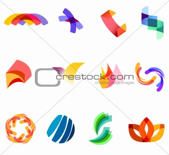 12 colorful vector symbols: (set 20)