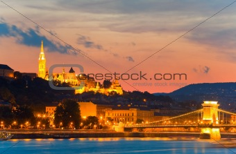 Budapest night view