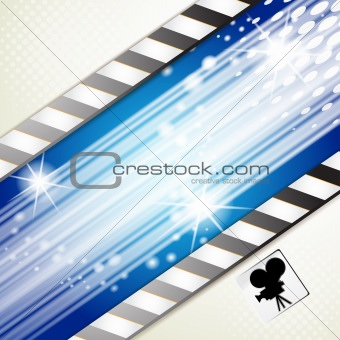 Blue background with rays