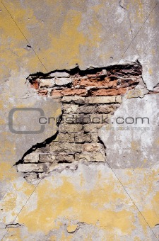 grunge and cracked old wall