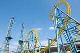 Roller coaster in amusement park