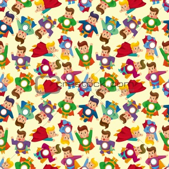 cartoon superman seamless pattern